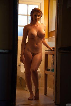 Lilith Lust Busty Redhead Steamy Shower Zishy