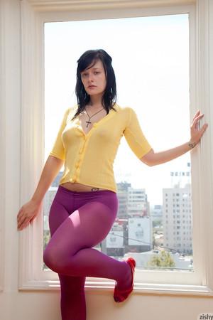 Hannah Kinney Purple Tights Zishy