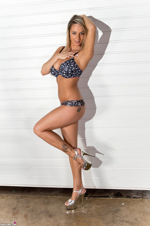 Nikki Sims Nude Ladder