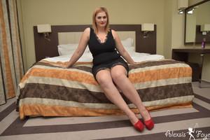 Alexsis Faye Black Dress Nudes